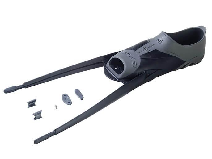 Black Cressi Mens Gara Modular Assembly Kit for Fins
